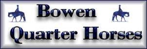 Quarter Horse Breeding & Sales at Bowen Farms